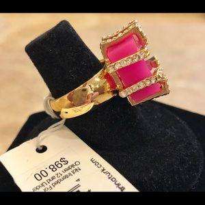 Trina Turk Jewelry - NWT-Trina Turk-Pink Cube & Pave Cocktail Ring